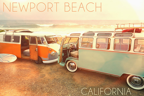Newport Beach Vans Car Coaster