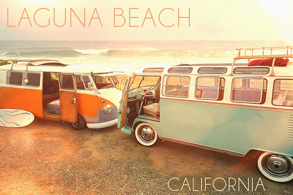 Laguna Beach Vans Car Coaster