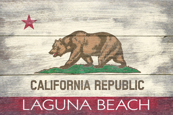 Laguna Beach CA Republic Flag Car Coaster