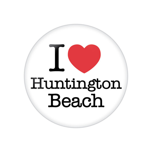 I Heart Huntington Beach Button