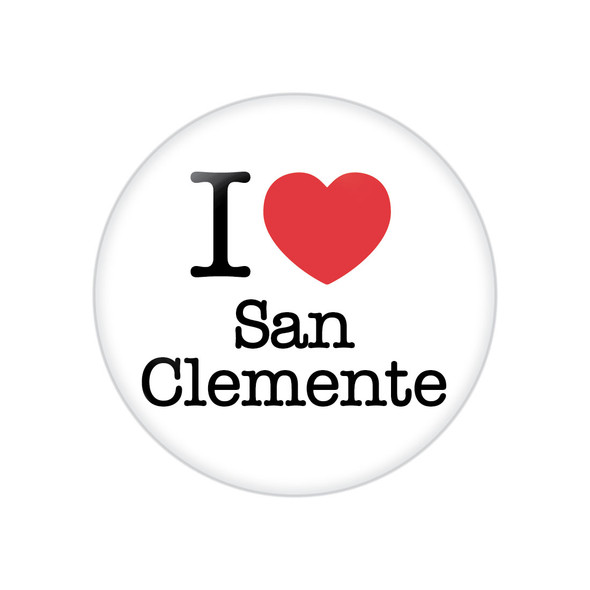 I Heart San Clemente Button