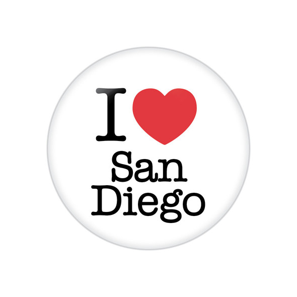 I Heart San Diego Button