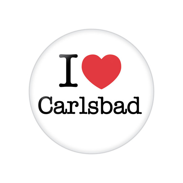 I Heart Carlsbad Button