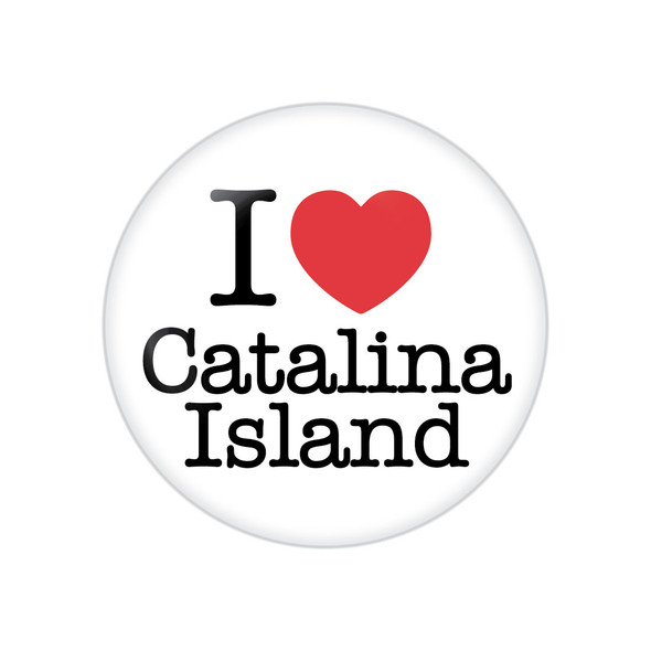 I Heart Catalina Island Button