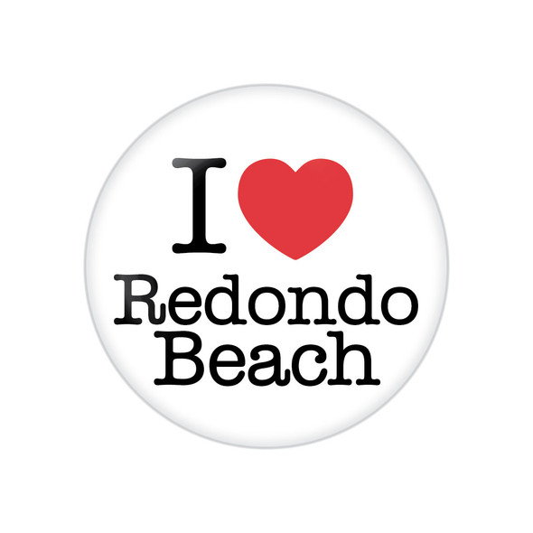 I Heart Redondo Beach Button