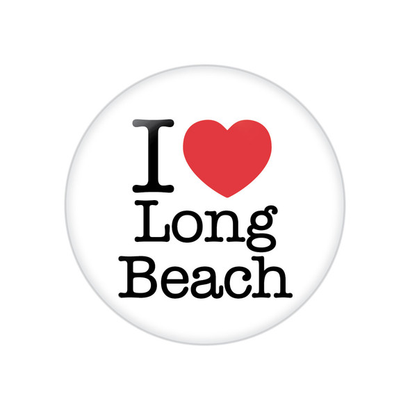 I Heart Long Beach Button
