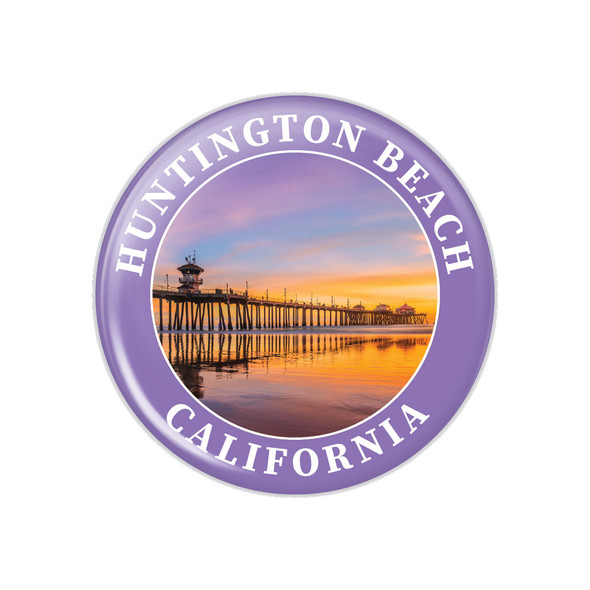 Huntington Beach Pier Button