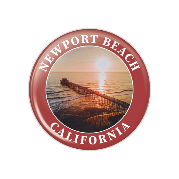 Newport Beach Pier Button