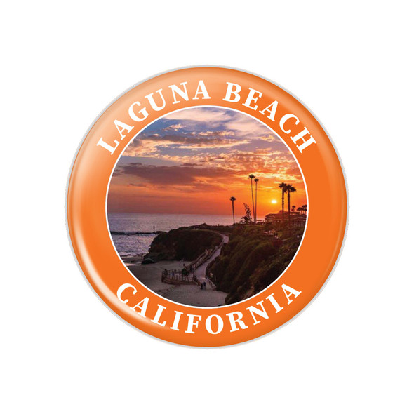 Laguna Beach Sunset Buttons