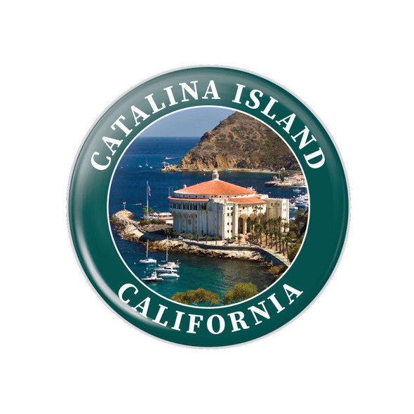 "Catalina Island Casino 1.25"" Button"