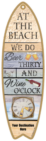 Beach Beer Thirty Surfboard Sign