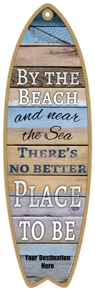 Beach Place to Be Surfboard Sign