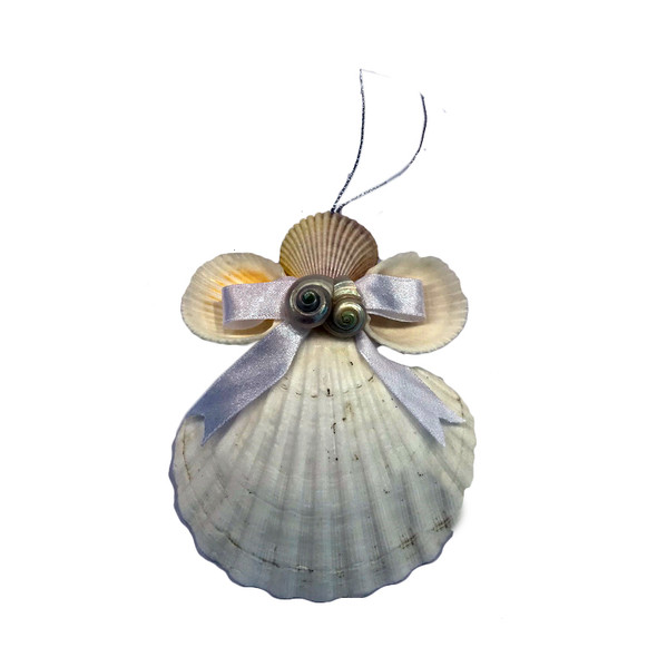 Scallop Shell Angel Ornament