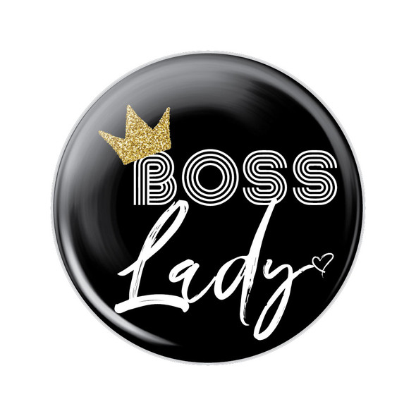 Boss Lady Button