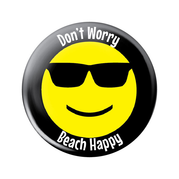 Don't Worry Beach Happy Button