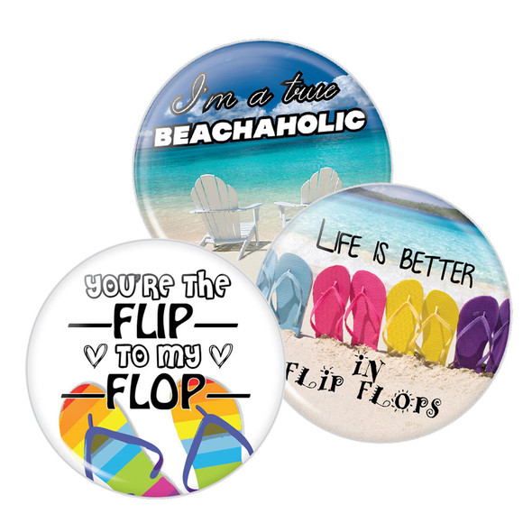 Flip Flop Triple Pack Buttons