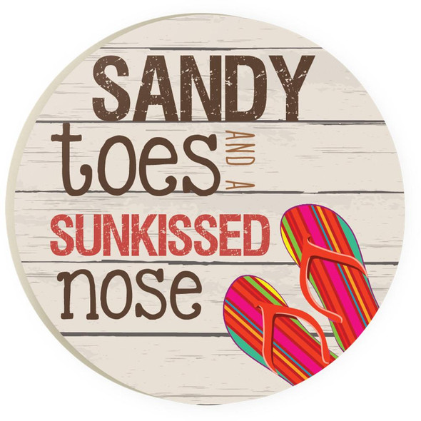 Sandy Toes Flip Flop Car Coaster