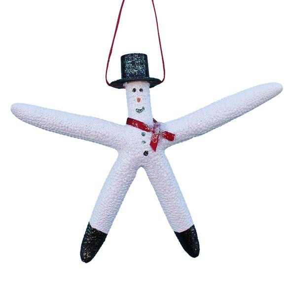Snowman White Finger Starfish Ornament
