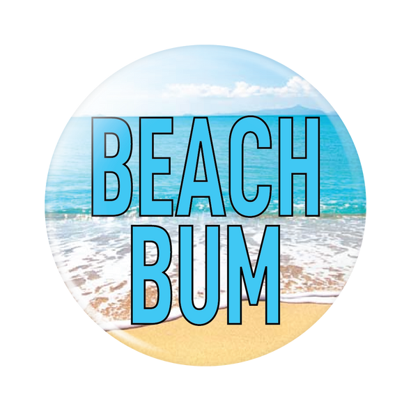 Beach Bum Button
