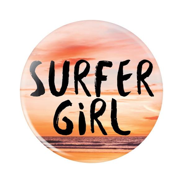 Surfer Girl Button
