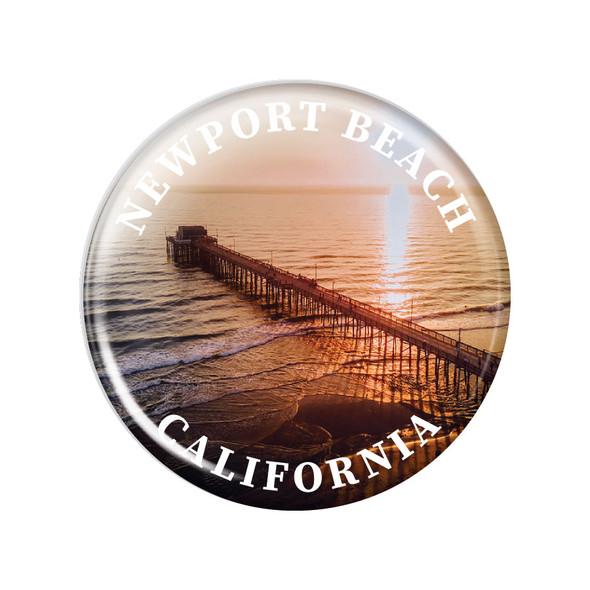 Newport Beach Pier Magnet