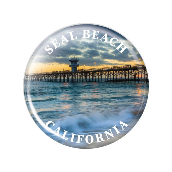 Seal Beach Pier Button