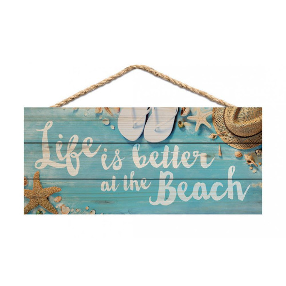 Life is Better at the Beach Rope Sign