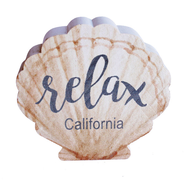 Relax Shell Shape Sign