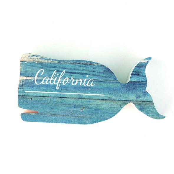 California Whale Shape Sign