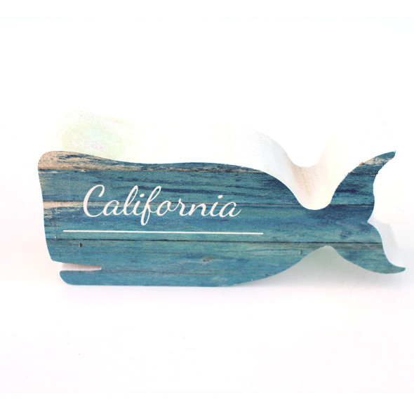 California Whale Shape Sign