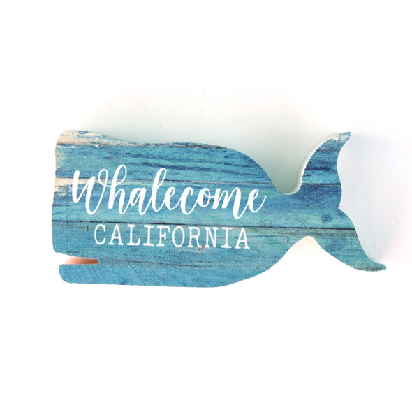 Whalecome Shape Sign - Name Drop