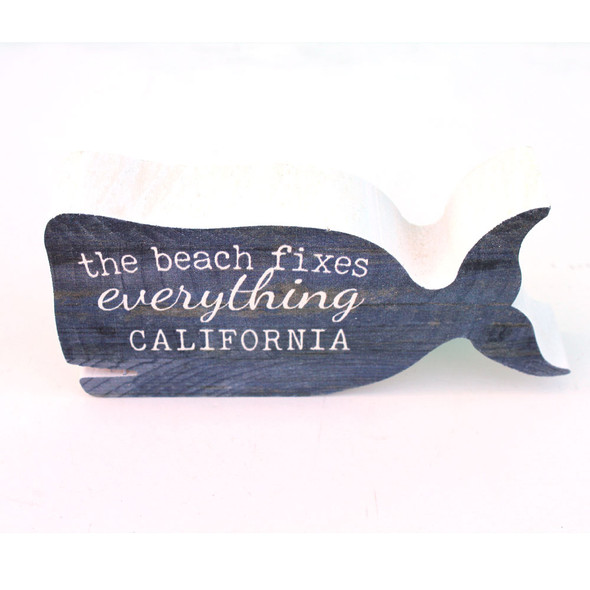 The Beach Fixes Everything Whale Sign