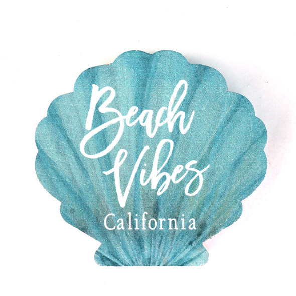 Beach Vibes Shell Sign