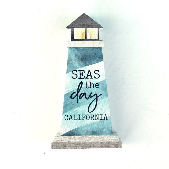 Seas the Day Lighthouse Sign