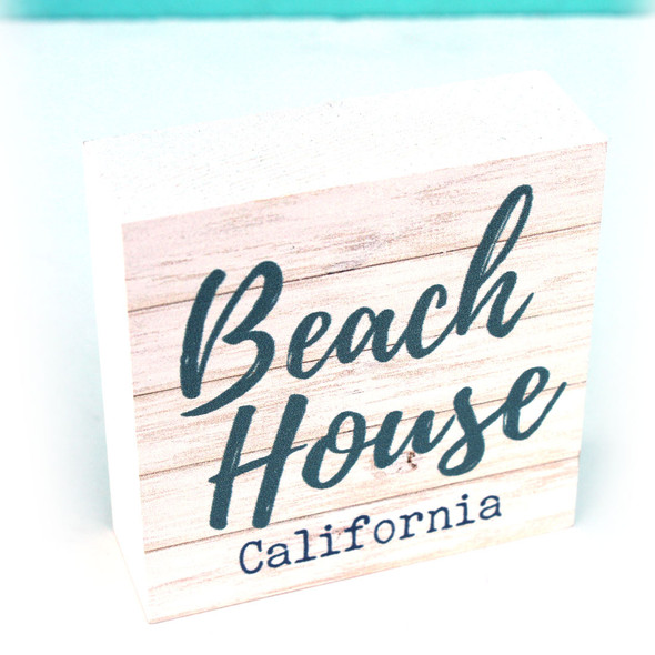 Beach House Square Sign