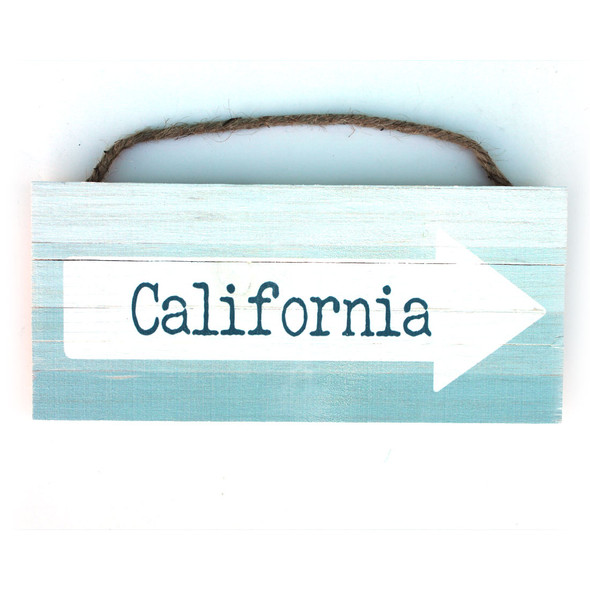 California This Way Arrow Rope Sign