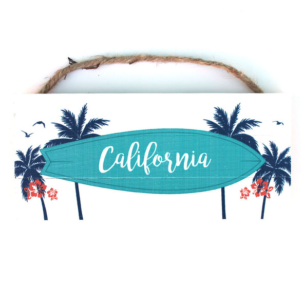 California Surfboard Rope Sign