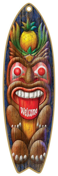 Tiki Guy Surfboard Sign