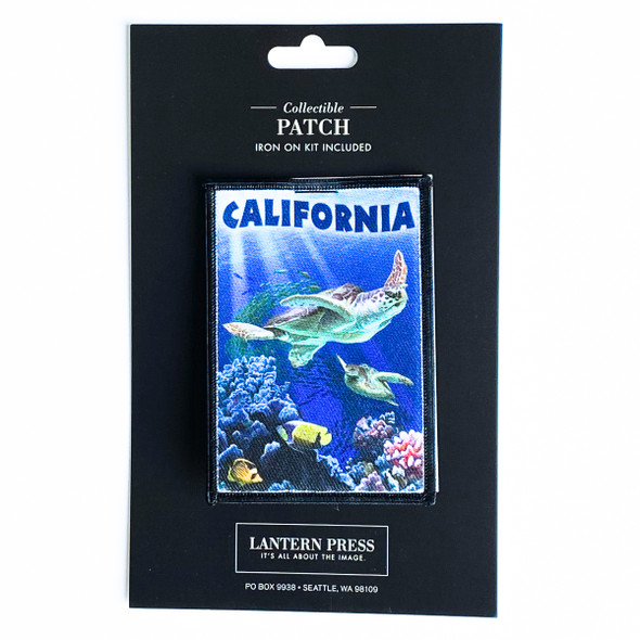 California Sea Turtles Swimming Patch