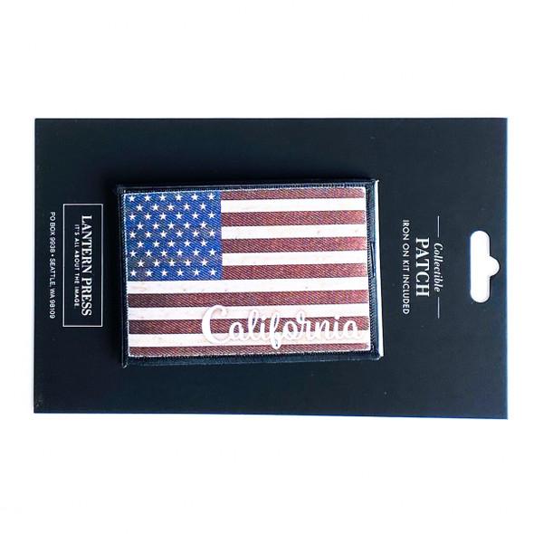 California USA Flag Patch