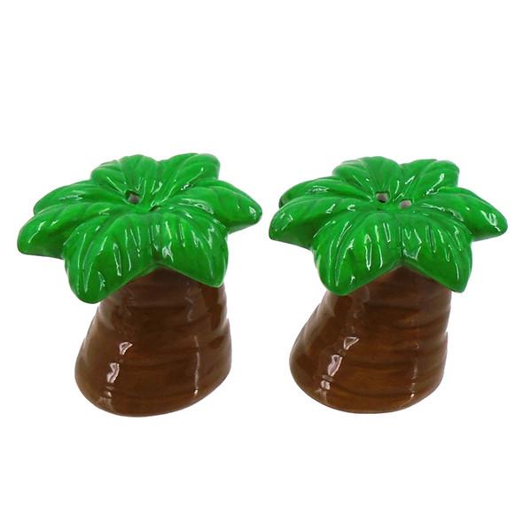 Palm Tree Salt & Pepper Shakers