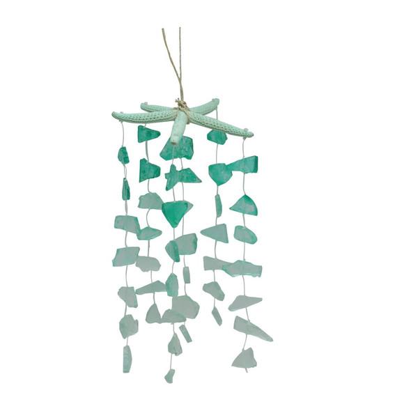 Starfish with Hanging Sea Glass