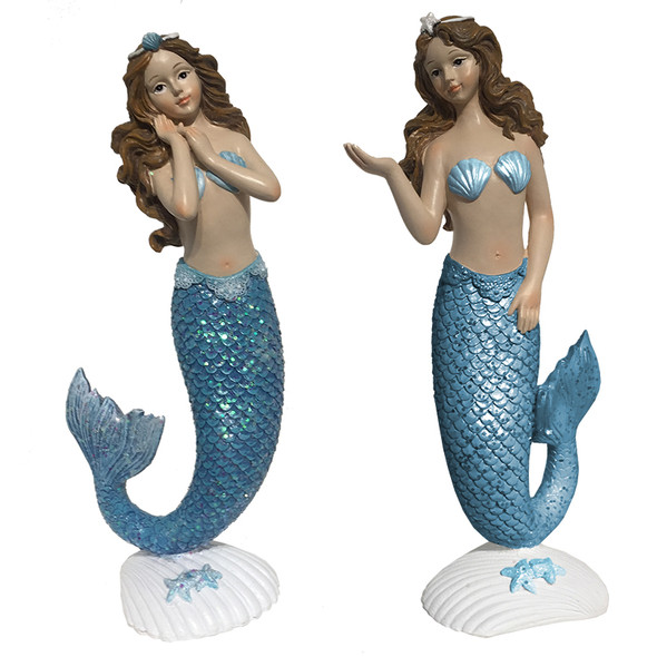 Blue Mermaid Figures