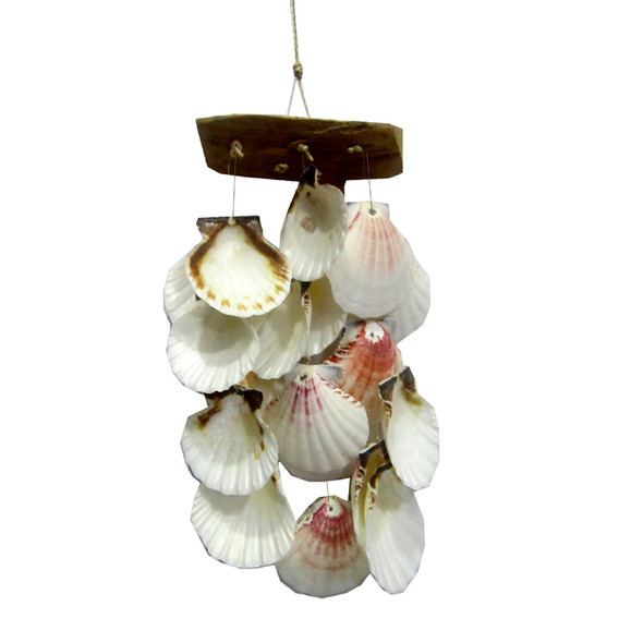 Driftwood Scallop Shell Chime