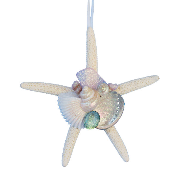 Pink Sea Glass Starfish Ornament