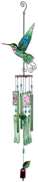 Hummingbird Metal & Glass wind chime
