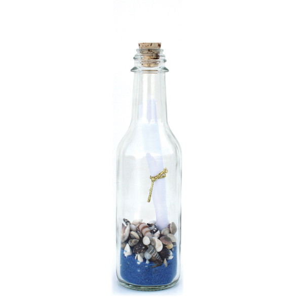 Cobalt Sand Message in a Bottle