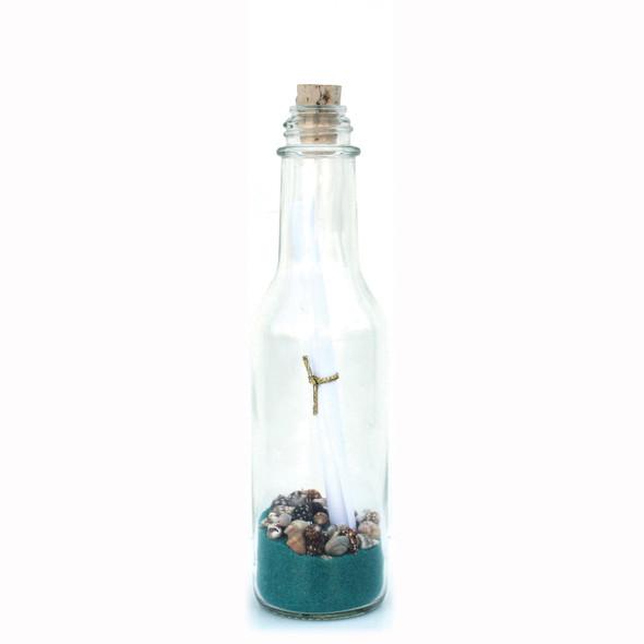 Ocean Sand Message in a Bottle
