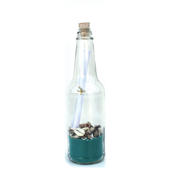 "Ocean Sand 8"" Message in a Bottle"