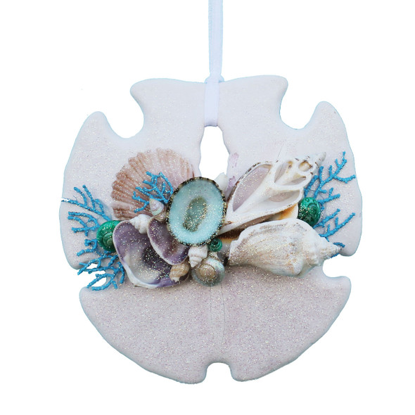 Light Blue Sea Fan Sand Dollar ornament
